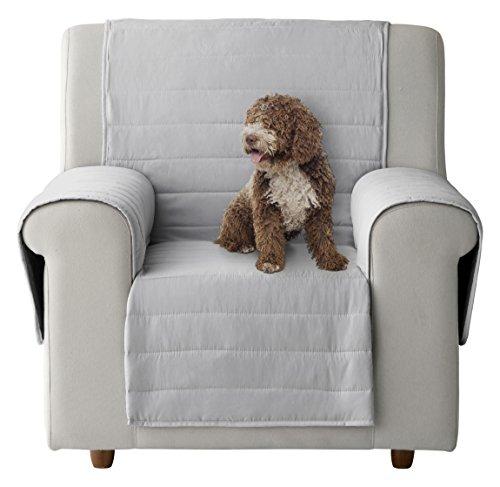 Eiffel textile custodia di divano imbottita per animali domestici, poliestere, grigio/grigio scuro, 55x 195x 3cm