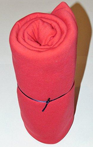 Mamadu Super Sweat Uni rot (Sweatshirt-, Jogging-, Stoff) Meterware in vielen Farben, ab 50cm Zuschnitt