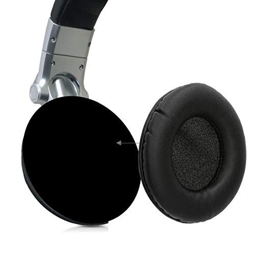 kwmobile 2X Ohrpolster für Technics RP DH1200 / DH1200 DJ Kopfhörer - Kunstleder Ersatz Ohr Polster für Technics Overear Headphones - 2