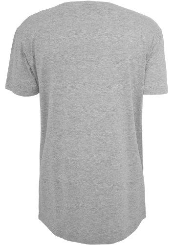 URBAN CLASSICS - Shaped Long Tee (grey) Grey