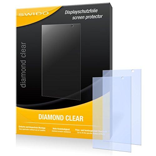 SWIDO 2 x Bildschirmschutzfolie Hisense HS-U980BE-2 Schutzfolie Folie DiamondClear unsichtbar