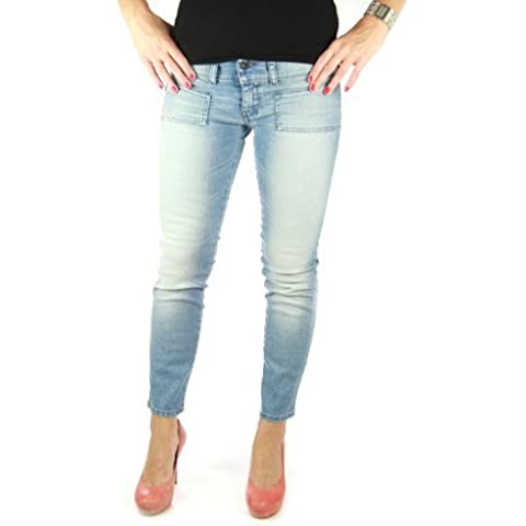 DIESEL Jeans Hushy 008XN 7/8 Pantalón Vaquero Mujer chica azul denim women
