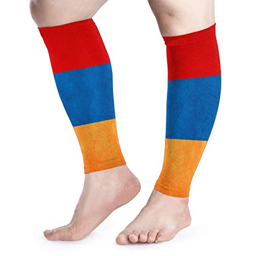 Armenia Grungy Flag Calf Compression Sleeve - Leg Compression Socks for Shin Splint Calf Pain Relief Fit for Men Women and Runners Active Run Thermal