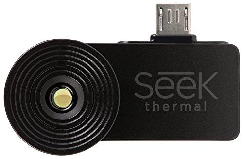 Seek Thermal Compact Cámara de imagen térmica con conector USB y carcasa hermética protectora para dispositivos Android - Negro
