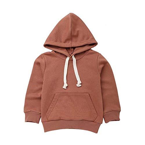 Sonnena Tops Jungen Hoodies Winter Kleinkind Infant Baby Mädchen Kleidung Set Einfarbig Tasche...