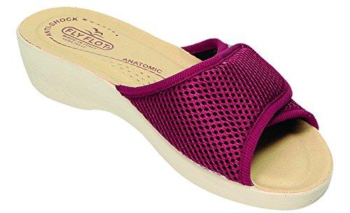 Fly Flot Pantofole Donna Rosso Bordeaux Bordeaux