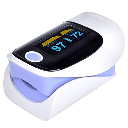 XISURE Pulsoximeter-Fingerspitze - Sauerstoffsättigungsmonitor - mit Herzfrequenzerkennung,Lila
