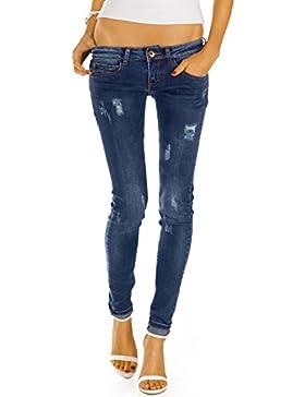 Bestyledberlin Damen Skinny Jeans Hosen, Stretch Röhrenjeans, enge Baumwoll Hüftjeans j29f