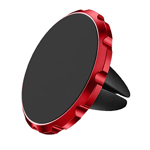 Price comparison product image Flamingoo Universal Magnetic Car Phone Holder 360 Rotation GPS Mobile Phone Car Holder Stand for iPhone X Huawei P20 Pro Samsung S9, Red Air Vent
