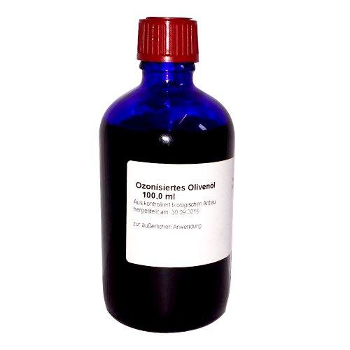 Ozonisiertes Olivenöl (Ozonisiertes Olivenöl, 100 ml - aus Apotheken-Herstellung mit Olivenöl in Bio-Demeter Qualität)
