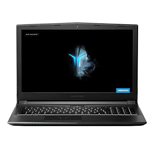 MEDION ERAZER P6705 39,5 cm (15,6 Zoll) Full HD Gaming Notebook (Intel Core i7-8750H, 16GB DDR4 RAM, 1TB HDD, 256GB PCIe SSD, NVIDIA GeForce GTX 1050 Ti 4GB GDDR5, Win 10 Home)