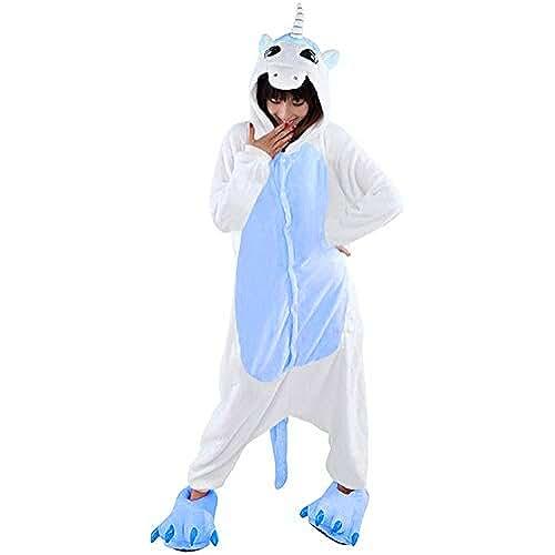 Tres Chic Mailanda - Disfraz/pijama unisex para adultos, tejido de peluche, diseño de animales