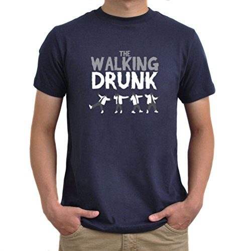 Maglietta The walking drunk Blu navy