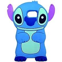LliVEER dibujos animados 3D con los oídos puede mover de silicona caso de la cubierta suave para Samsung Galaxy S6 Azul