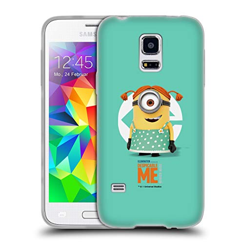 Head Case Designs Offizielle Despicable Me Stuart Maedchen Kostuem Minions Soft Gel Huelle kompatibel mit Samsung Galaxy S5 Mini