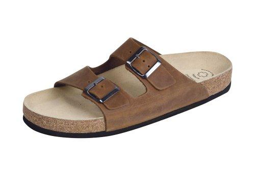 Wörishofener Fußform Bio-Pantolette, Sabot/sandali donna Brown