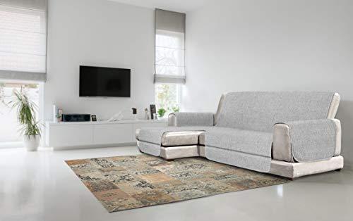 Italian Bed Linen Copridivano Antiscivolo Comfort con Penisola SX, Grigio, 190 cm