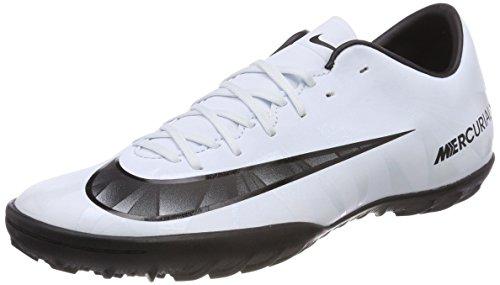 Nike Herren Mercurial X Victory VI CR7 TF 852530 401 Fußballschuhe, Weiß Blanc/teinte Bleue/Noir, 42 EU