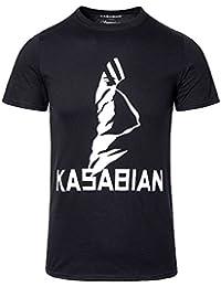 Kasabian Ultra Face Tour T Shirt Imprimé Musique (Noir)