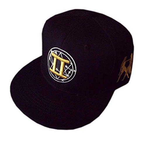 chapeau-noir-reglable-dor-brode-hip-hop-hat-unisexe-caps-gemini