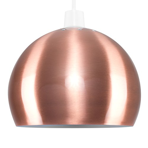Elegant MiniSun   Mini Retro Brushed Copper Effect Arco Style Dome Ceiling Pendant Light  Shade