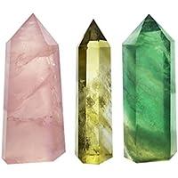 Gelb Kristall Reinigungsstäbe Point facettiert Prism Bars für Reiki Chakra Meditation Therapie Deco preisvergleich bei billige-tabletten.eu