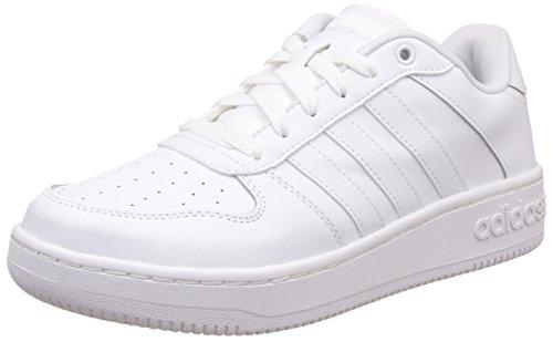 adidas Team Court, Scarpe da Ginnastica Basse Uomo, Bianco (Footwear White/Footwear White/Matte Silver), 40 EU