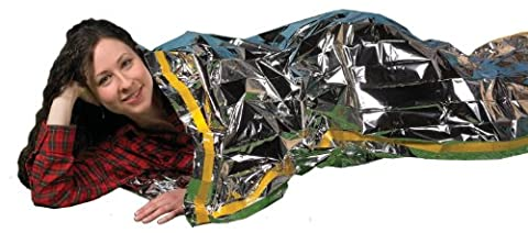 Emergency Survival Mylar Thermal Sleeping Bag - Grizzly Gear - 84 X 36 by Grizzly Gear
