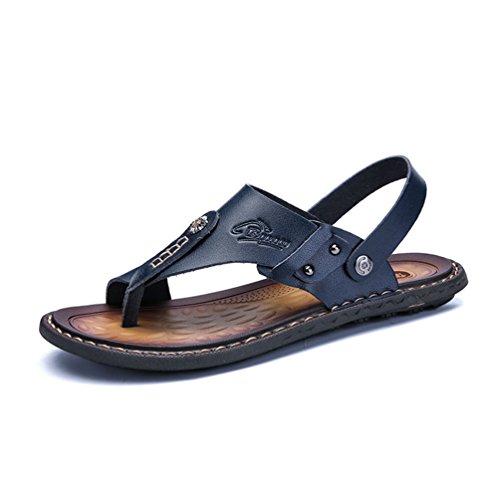 Männer Split Leder Sandalen echte Leder Strandsandalen Männer Pantoffeln Sommerschuhe Flip Flops