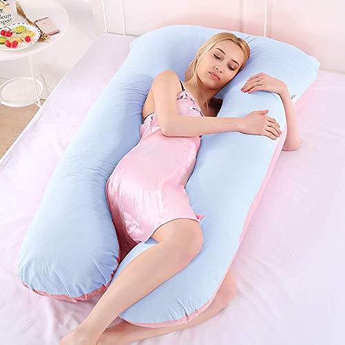 CRMY Ganzkörper-Stützkissen for den Rücken mit Baumwollbezug for Schwangere Rückenschmerzen lindern mit Jersey-Bezug for das Körperkissen