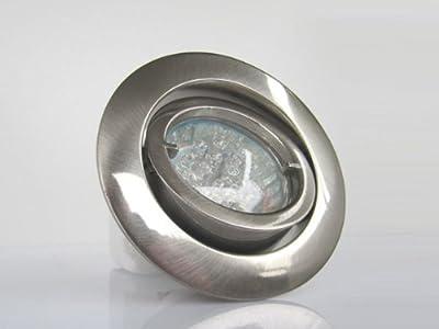 10er-Set LED-Einbauleuchten PREMIO 230V Edelstahl gebürstet - Warm-Weiß von EU - Lampenhans.de
