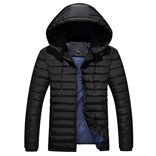 Zhhlinyuan Mens Herren Father's Teenagers Long Sleeve Warm Padded Jacket Jacke Halloween Gift Big Tall Kingsize 9XL (Kingsize-mens Tall Big Jacke And)