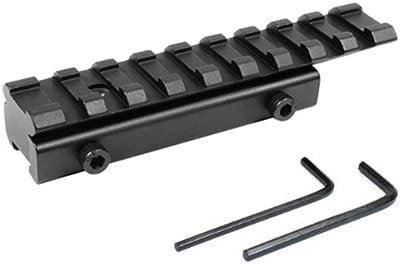 Rifle de alcance Weaver, Adaptador de riel, cola de milano de 11mm, Riel de 20mm