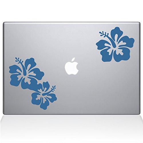 The Decal Guru Hibiscus Vinyl-Aufkleber, 38,1 cm (15 Zoll) MacBook Pro (2016 und neuere Modelle), Hellblau (1456-MAC-15X-LB)
