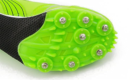 NEWZCERS Unisex Athletics sports chaussures running pointes Vert
