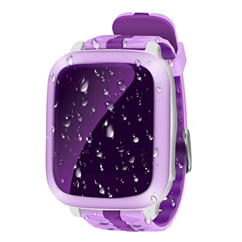 Produktbild Smart Watch für Kinder,  Ollivan Kinder Smartwatch mit SIM-Anrufe Anti-verlorenen GPS-Tracker SOS Voice-Chat für iPhone 7 6 6S Plus Samsung S6 S7 Plus Samsung LG HTC Xiaomi Huawei Smartphone (lila)