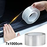 STYLINGCAR Auto Einstiegsleisten Aufkleber Universal Transparent Stoßstange Spoiler Kantenschutz Schutzfolie (7CMx10M)
