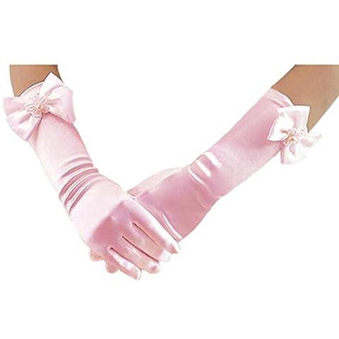 Deceny CB Long Gloves for Flower Girls Fancy Gloves for