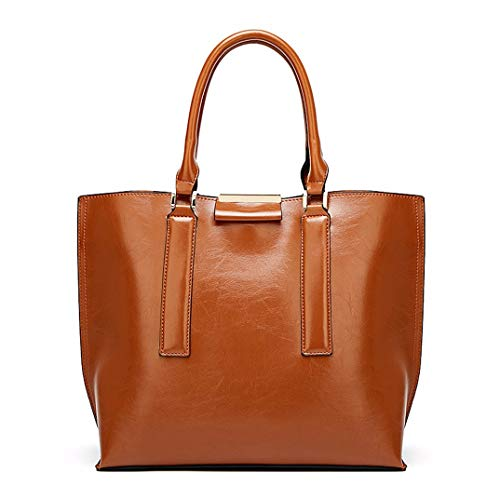 Skyinbags Eine Der Frauen - Schulter Schräg Tasche Große Kapazität Handheld Reine Farbe Fashion, Braun