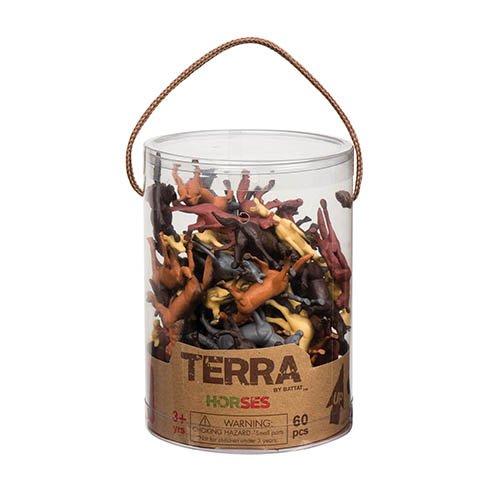 Terra By Battat an6038z caballos juguete en un tubo (60piezas) , Modelos/colores...