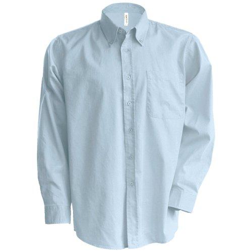 Kariban - Camisa manga larga Modelo Oxford Cuidado fácil Tallas Grandes Hombre caballero - Trabajo/Boda/Fiesta...