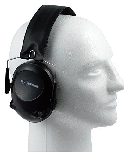 Elektronische Ohrenschützer Leight Howard (Boomstick Gun Zubehör Elektronische Sicherheit Ohr Muff mit 4AAA, schwarz)