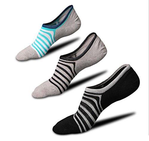 An-sell 2018 Sommer No Show Striped Socken Mans Liner Socken Low Cut Socken Sport Socken No Show Socke Baumwolle Für Wohnungen (Graue Socken No-show)