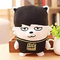 aixingwuzi Practical BTS Kpop Bangtan Boys HipHop Funny Monster Doll Character Cute Plush Toy(None JIMIN)
