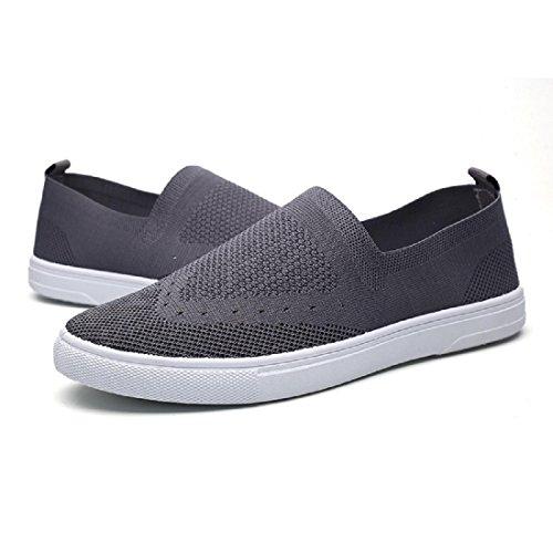 Herren Atmungsaktiv Flache Schuhe Licht Lazy Schuhe Laufschuhe Freizeitschuhe Grey