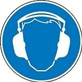 Gehörschutz benutzen Gebotsschild, selbstkl. Folie, Größe 10cm