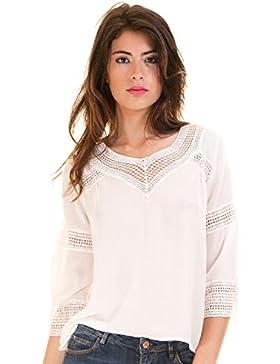 Vila Blusa Ibicenca Crochet Vicarrie Blanca de Clothes
