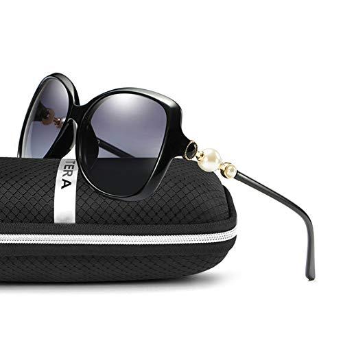 Taiyangcheng Polarisierte Sonnenbrille Frauen Sonnenbrille Weibliche Schmetterling Shades Big Frame Eyewear Uv400,Blaue Blume