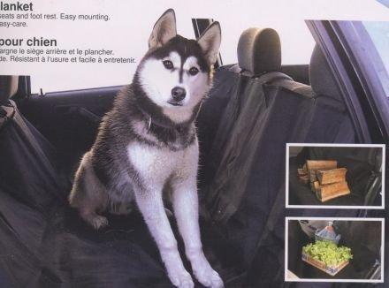 Artikelbild: Hundedecke Schutzdecke für PKW Rückbank Rücksitzdecke 'Nero'