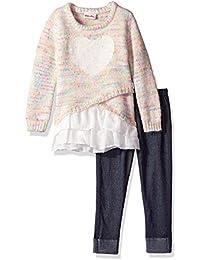 Little Lass Girls 3 Pc Shaggy Fur Vest Set